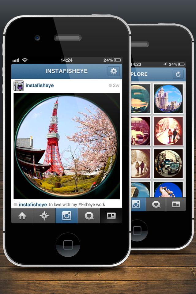 Instafisheye lomo fisheye lens for instagram photo for Fish eye lense app