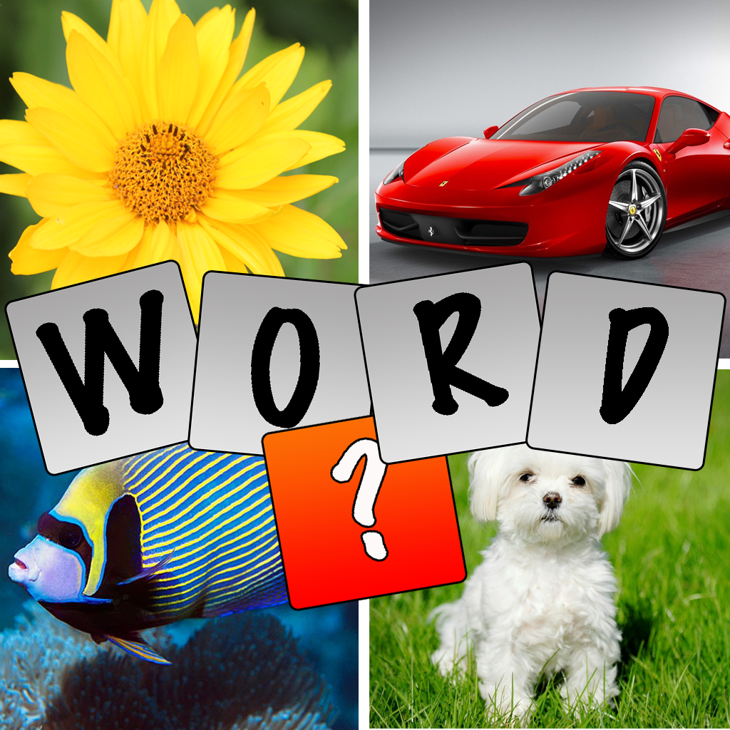 Quad Pic Guess the Word Quiz- Best Pictionary Practice Game